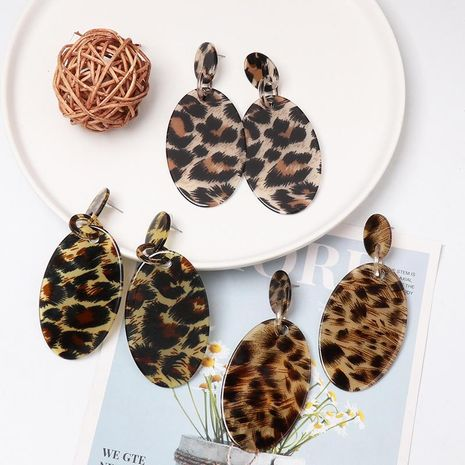 Leopard fashion acrylic stud earrings NHJJ155650's discount tags