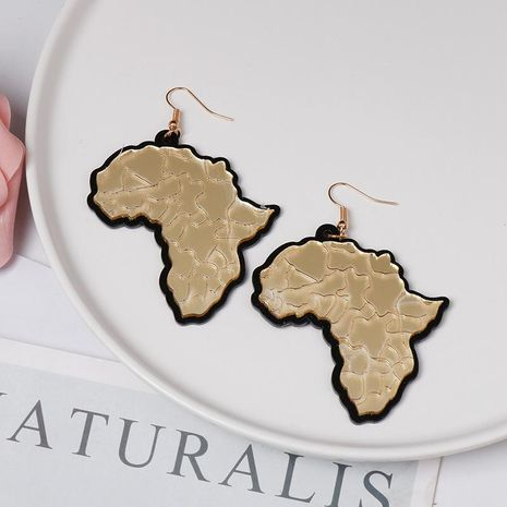 Acrylic plate map earrings NHJJ155655's discount tags