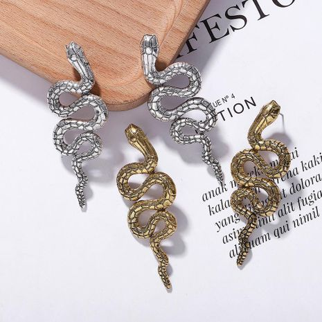 Alloy snake stud earrings NHJQ155653's discount tags