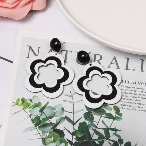 New earrings acrylic flower earrings NHJJ155656's discount tags