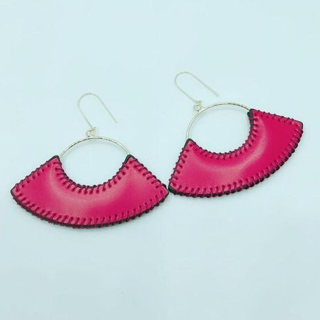 Fashion hand-stitched fan-shaped leather ear hook NHWJ155658's discount tags