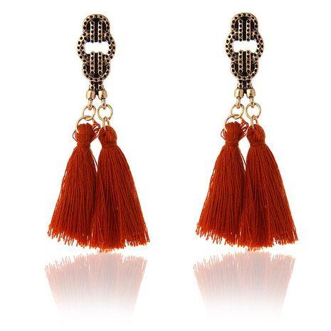 Fashion tassel earrings NHPF155665's discount tags