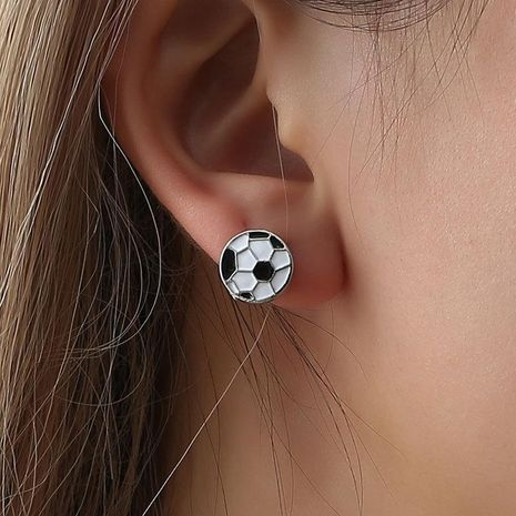 Black and white plaid new stud earrings NHDP155673's discount tags