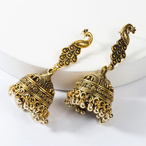 Alloy Phoenix Bell Chimes Vintage Earrings NHJE155678's discount tags