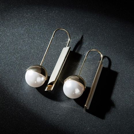 Fashion pearl alloy earrings NHLL155679's discount tags