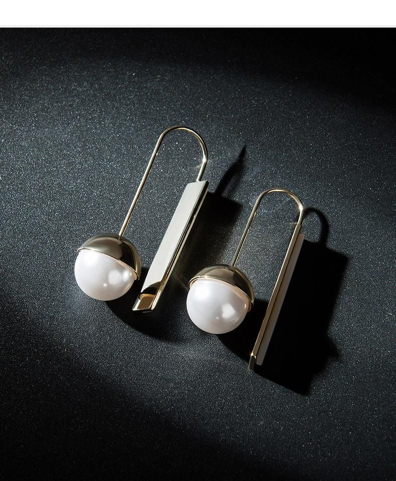 Fashion pearl alloy earrings NHLL155679