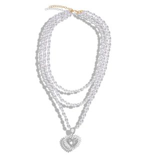 New Pearl Heart Shaped Long Sweater Necklace NHJQ155690's discount tags
