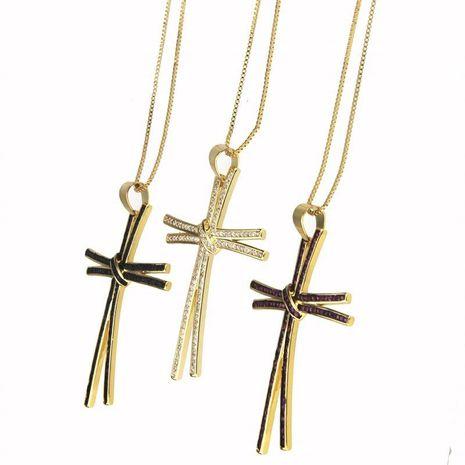 New Zirconium Cross Necklace NHBP155693's discount tags