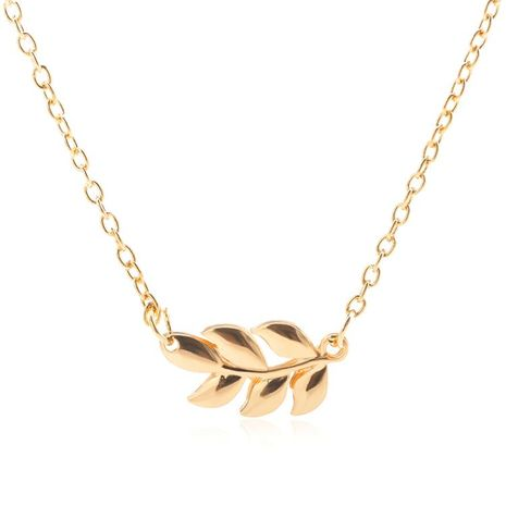 Alloy Leaf Grass Pendant Necklace NHDP155694's discount tags