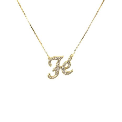 New Zirconium FE Letter Necklace NHBP155696's discount tags