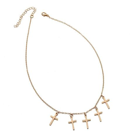 Fashion metal cross pendant necklace NHPF155699's discount tags