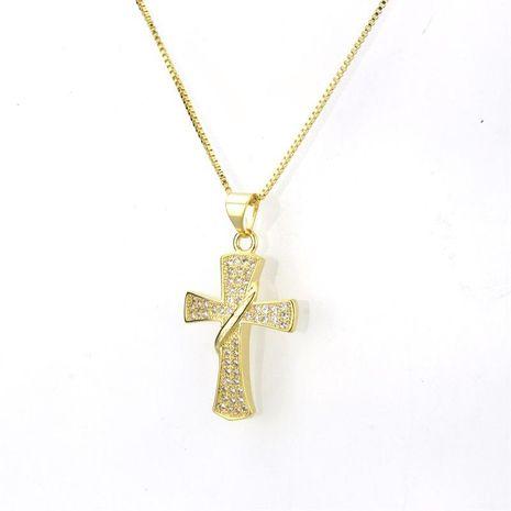 Nuevo collar de cruz de circonio NHBP155700's discount tags