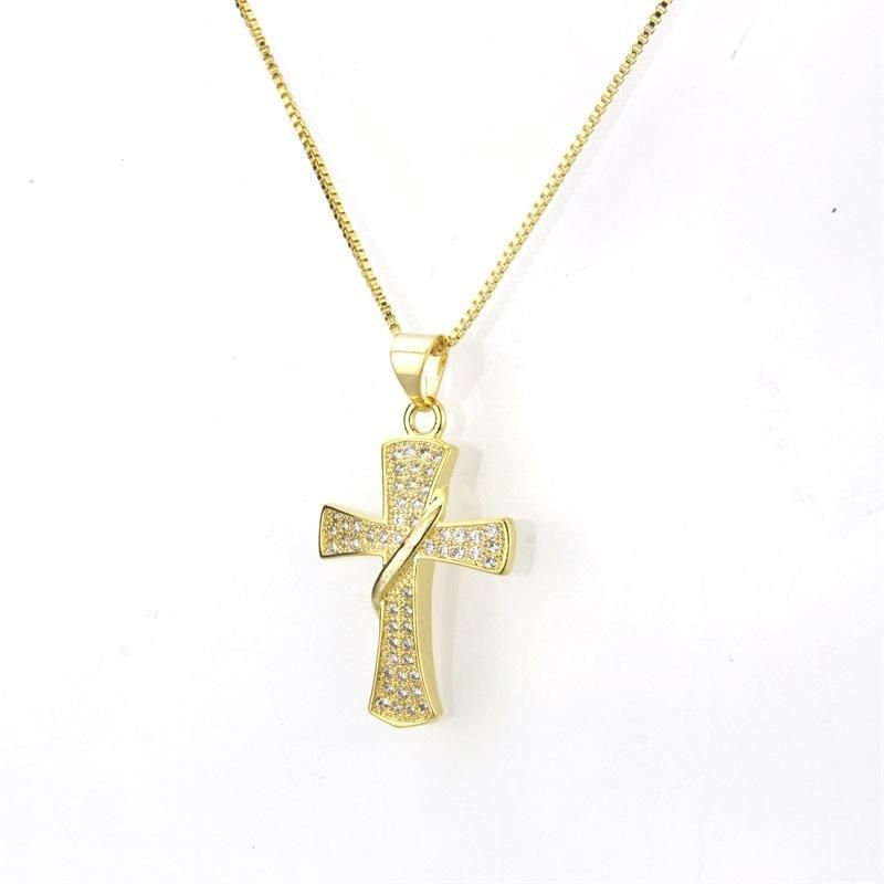 New Zirconium Cross Necklace NHBP155700