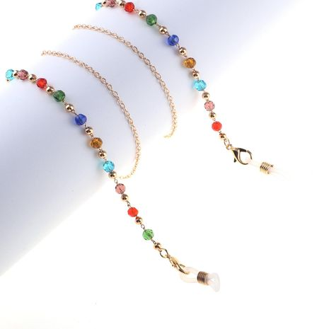 Color crystal handmade glasses chain NHBC155713's discount tags