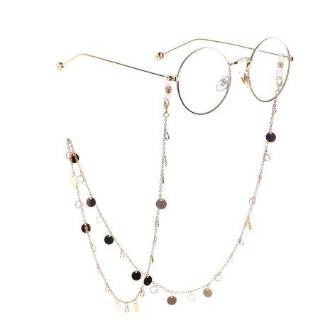 Cadena de gafas de disco de cobre y oro NHBC155723's discount tags