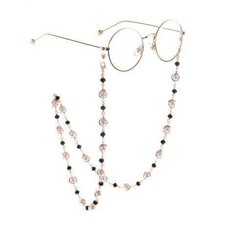 Pearl crystal metal handmade glasses chain NHBC155724's discount tags