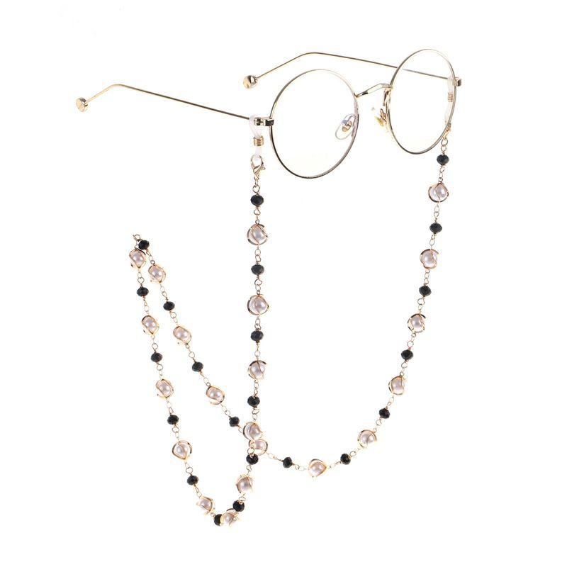 Pearl crystal metal handmade glasses chain NHBC155724