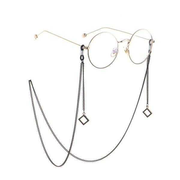 Black square pendant glasses chain NHBC155725