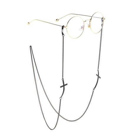 Black cross handmade glasses chain NHBC155728's discount tags