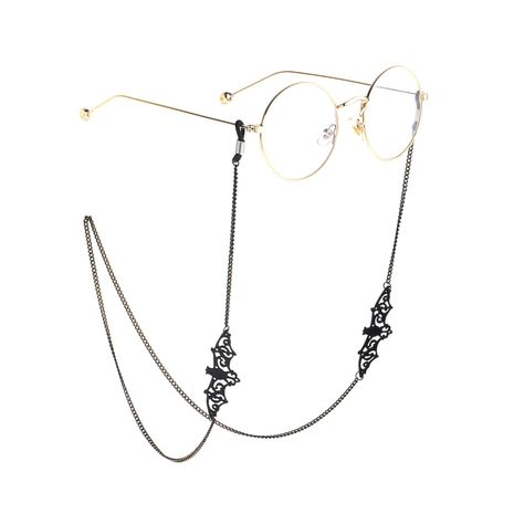 Black openwork bat metal glasses chain NHBC155730's discount tags