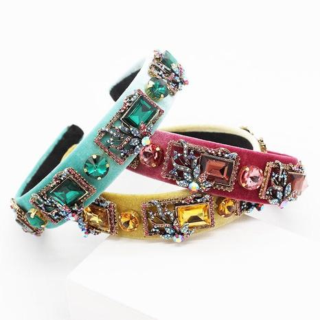 Nueva diadema de piedras preciosas de color cuadrado barroco NHWJ155752's discount tags