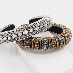 New Baroque color full diamond luxury headband NHWJ155758's discount tags