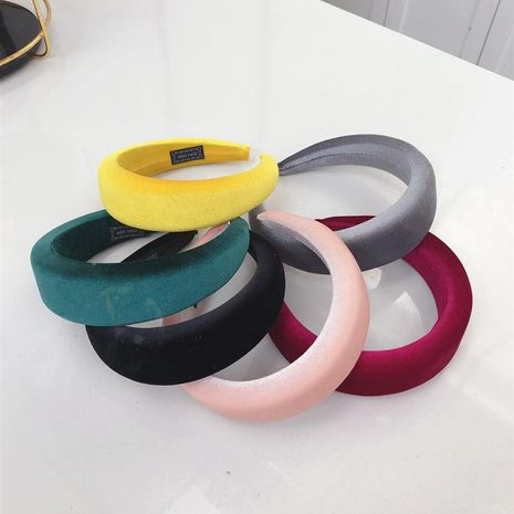 Milk silk thick sponge ring solid color headband NHSM155760's discount tags