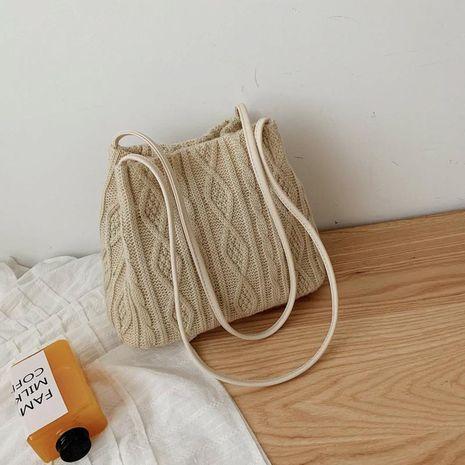 Nouveau sac seau bandoulière en tricot à la mode NHTC155790's discount tags