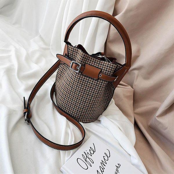 New Messenger Bag Fashion Woolen Bucket Bag NHTC155792
