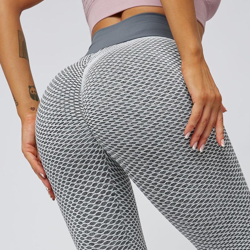 High waist beautiful hip sports tights seamless hip tights NHMA155835