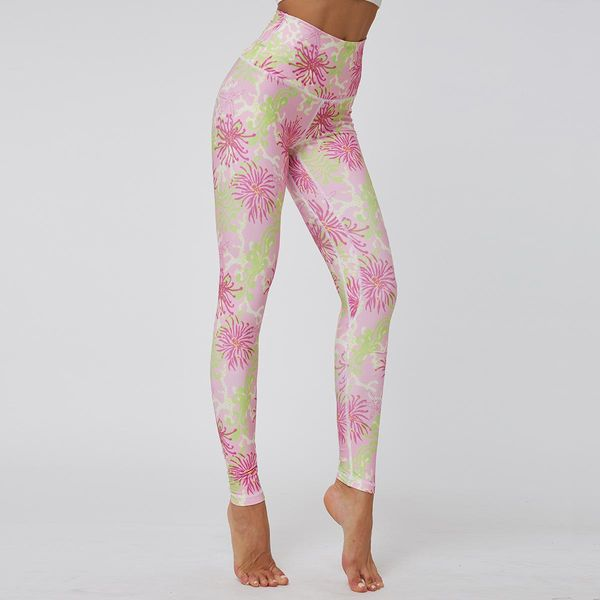 Fitness high waist tight stretch sports leggings NHMA155853