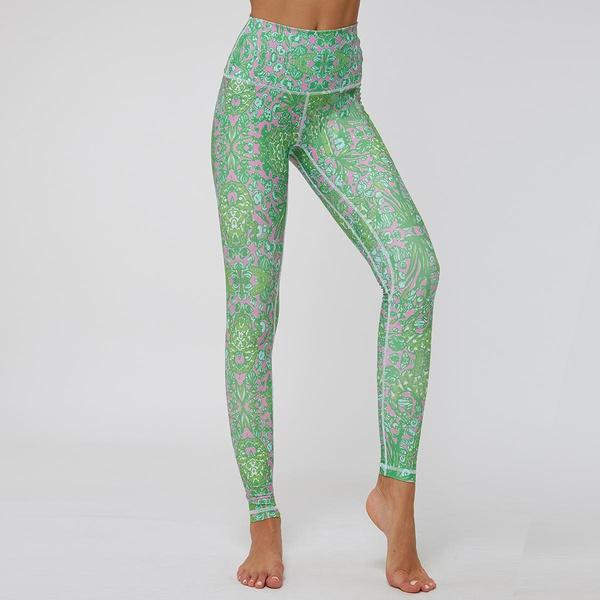 Sports Yoga Pants Print Slim Breathable Leggings NHMA155862