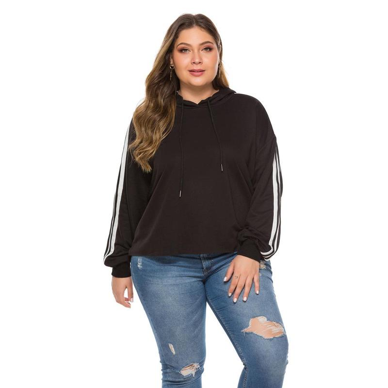 New large size drawstring hooded sweater NHLR155886
