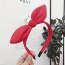 Fashion PU Faux Leather Rabbit Bow Hair Band NHSM155743