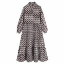 Fashion printed MIDI long sleeve slim dress NHAM155896