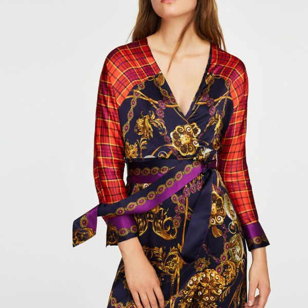 Fashion bohemian print dress NHAM149675