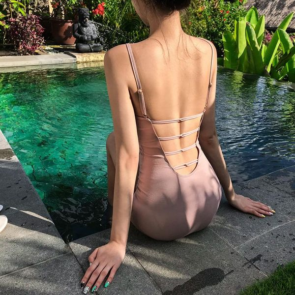 Fashion sexy conservative conjoined belly swimsuit NHHL149678
