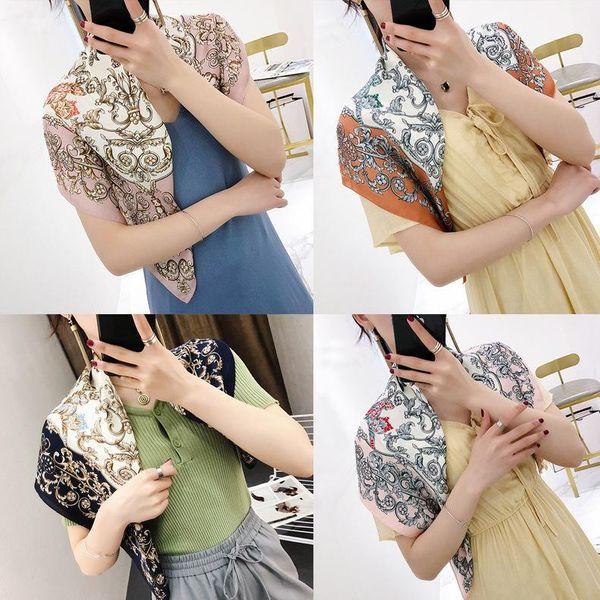 Fashion spring and summer thin silk scarf NHTZ149775