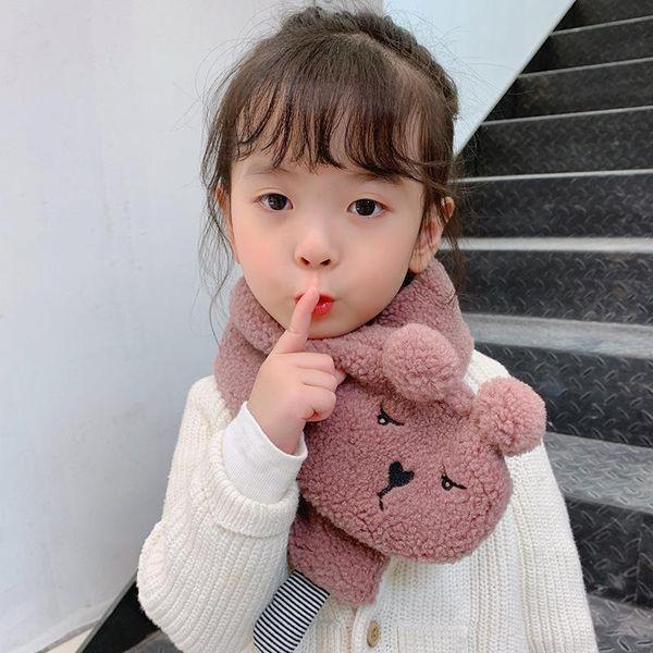 Cute warm solid color imitation lamb plush scarf NHTZ149784