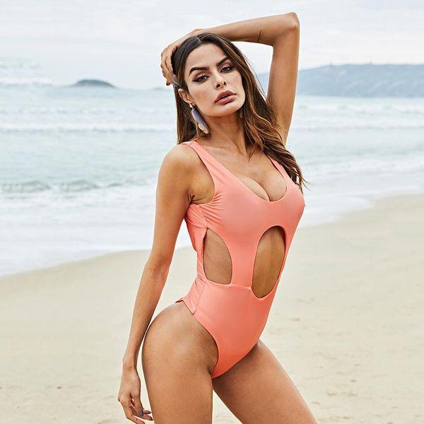 Fashion summer halter one-piece swimsuit NHDF149785
