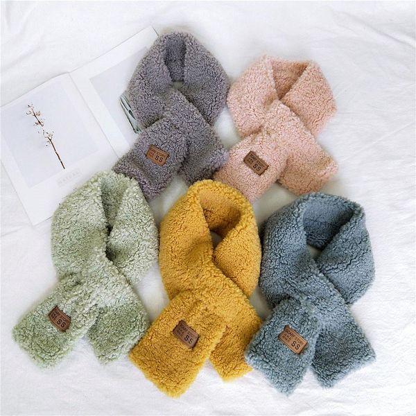 Fashion thick warm imitation lamb cashmere plush scarf NHMN149787