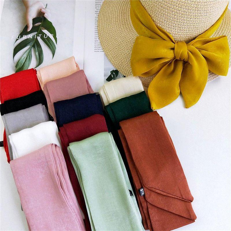 Fashion solid color long scarf scarf NHMN149791