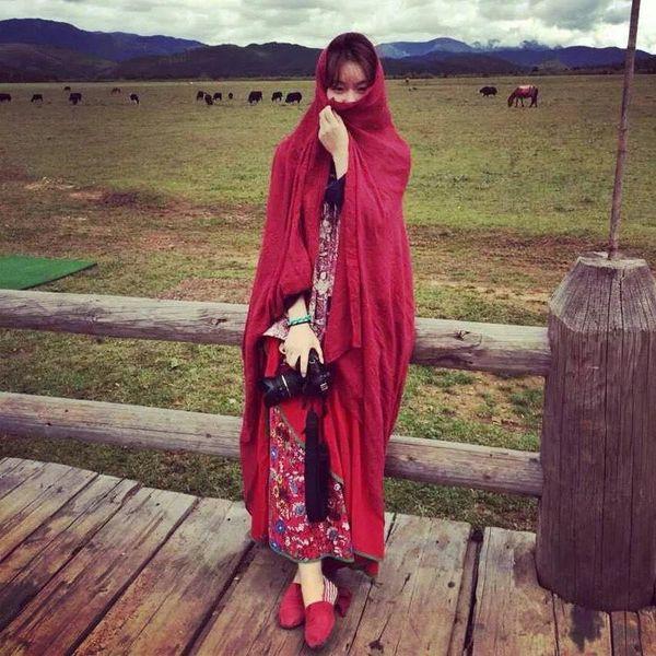 Bufanda de algodón color sólido primavera y otoño protector solar NHTZ149792
