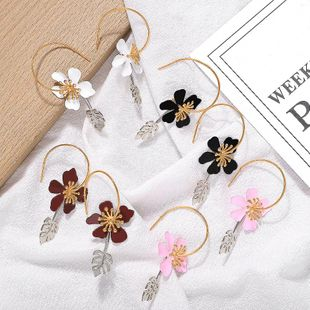 New leaf flower alloy earrings NHJQ149810's discount tags