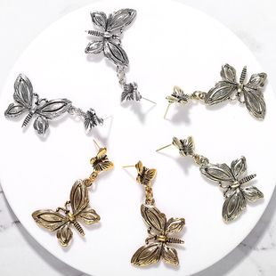 Vintage alloy butterfly earrings NHJQ149813's discount tags