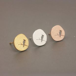 Fashion tree branches hollow bird alloy plating stud earrings NHCU149819's discount tags