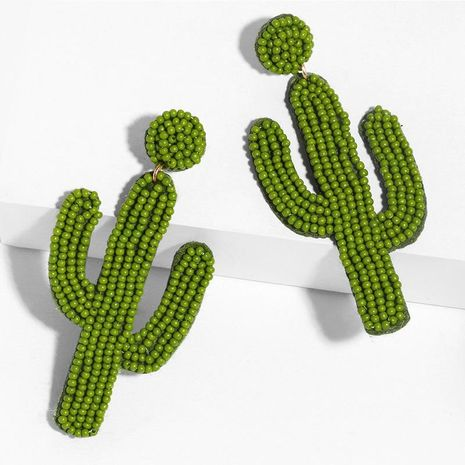 Fashion new cactus stitch beads earrings NHAS149824's discount tags