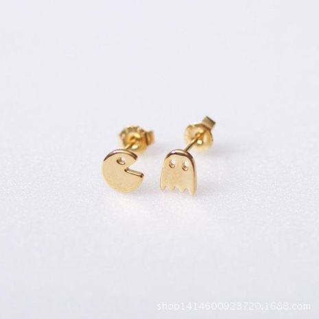 Simple alloy plating stud earrings gold and silver NHCU149826's discount tags