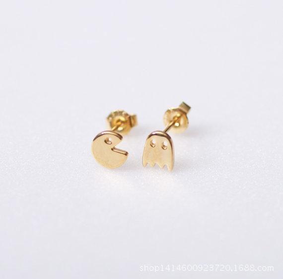 Aretes de aleación chapados en oro y plata. NHCU149826