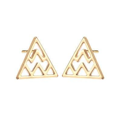 Geometric hollowed out letter W stud earrings NHCU149839's discount tags